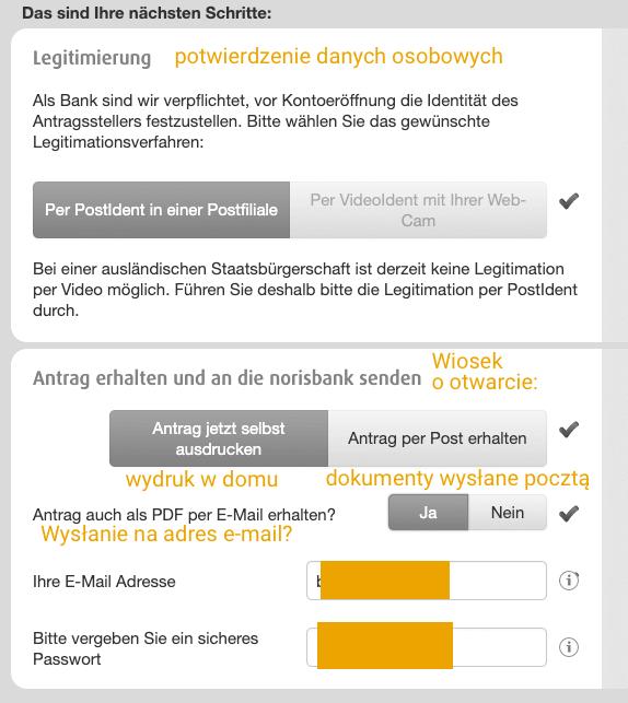 Norisbank konto przez internet