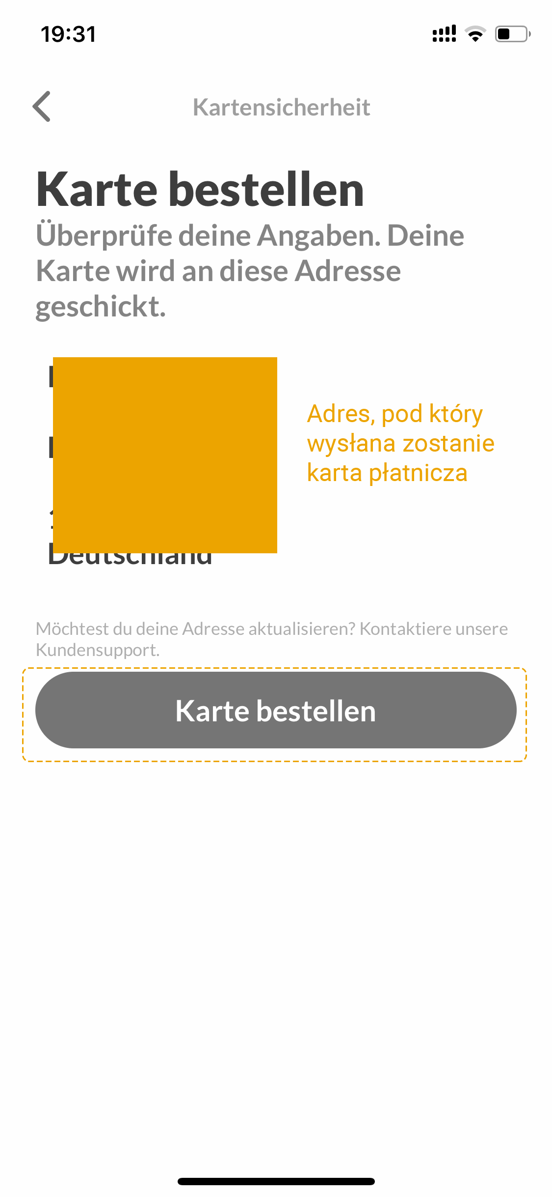 Bezpłatna karta Mastercard Bitwala