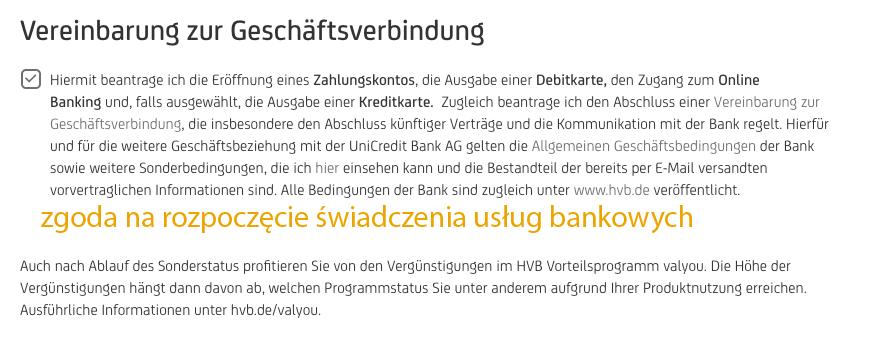 Hypovereinsbank jak otworzyć konto
