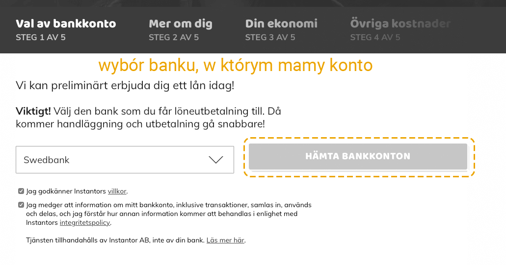 Pożyczki na dowód w Szwecji