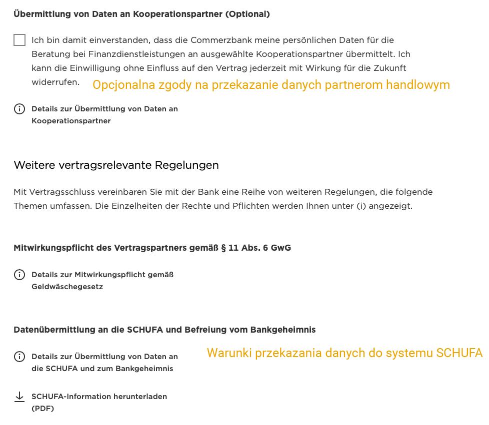 Commerzbank rachunek osobisty w Niemczech