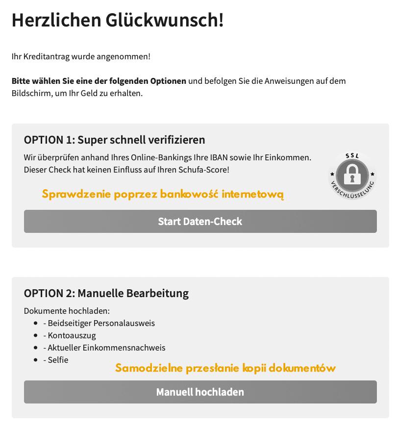 Wypłata minipożyczki w Niemczech