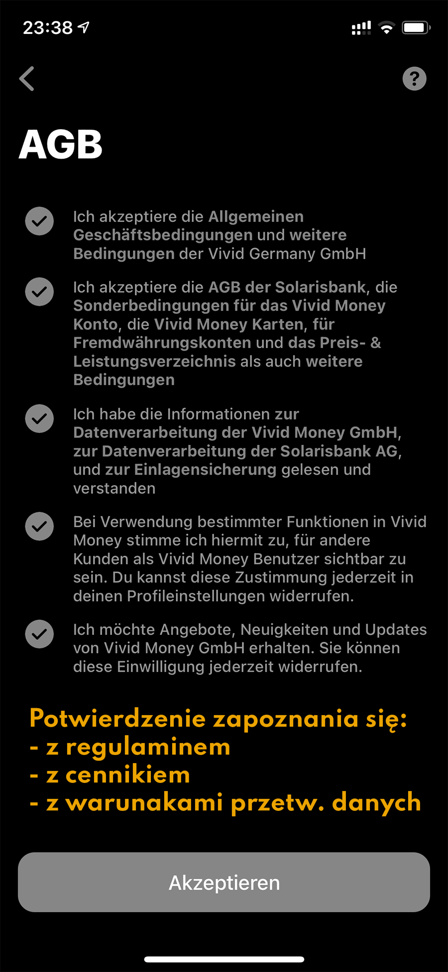 Vivid Money niemieckie konto